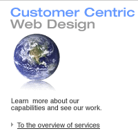 Customer-centric Web Site Design